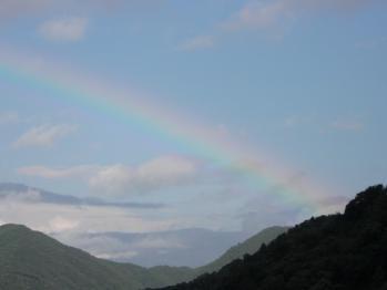 三方五湖の虹です