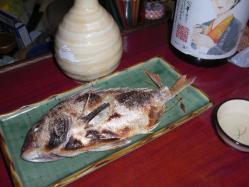 るみ子の酒9号酵母と鯛の塩焼き