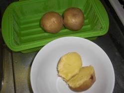 電子レンジで蒸かし芋