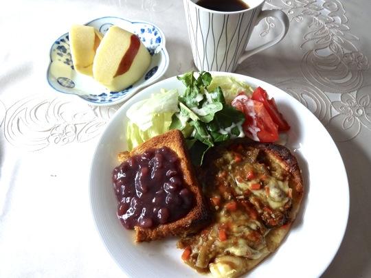 カレービザと小倉トースト