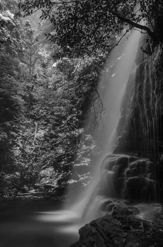 赤馬滝 横顔モノクローム