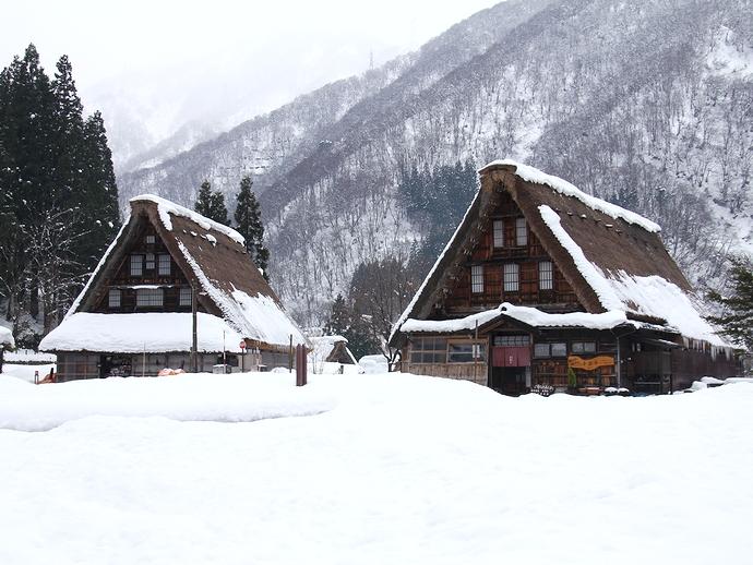 冬 菅沼合掌集落の雪景色
