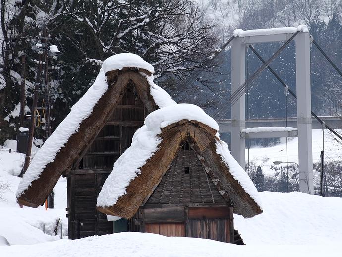 雪と合掌造り(菅沼合掌集落)