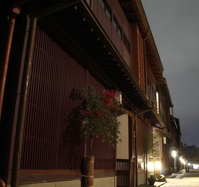ひがし茶屋街の夜景
