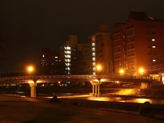 浅野川沿いの夜景