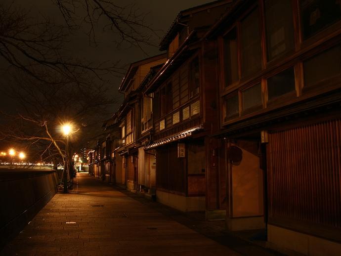 主計町茶屋街の夜景