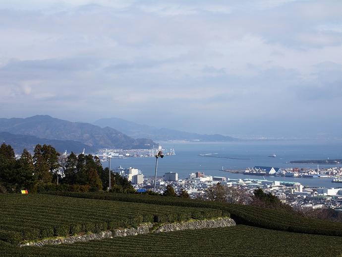 静岡・日本平からの眺め 富士山行方不明