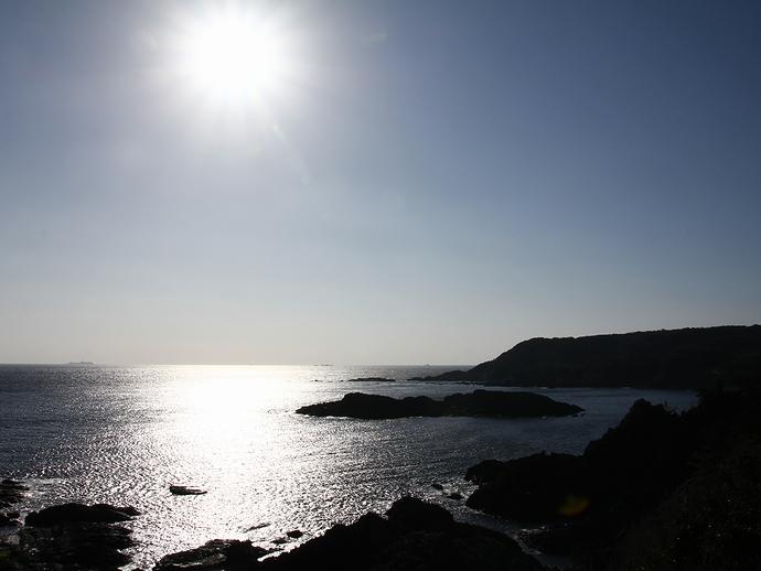 爪木崎から眺めた海