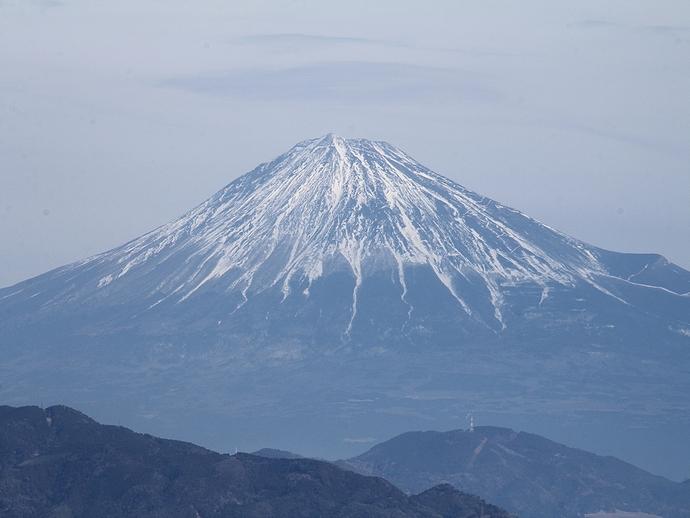 日本平から富士山を望む