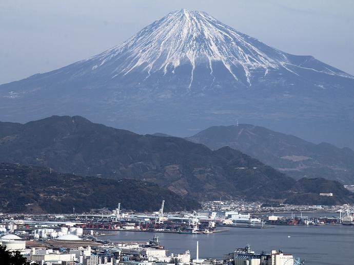 日本平から富士山へズームイン!