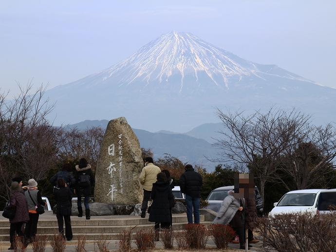 日本平の碑 富士山とともに