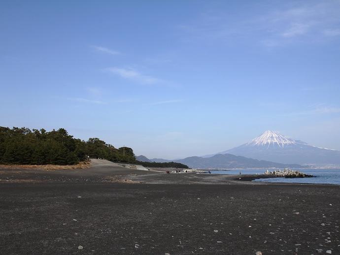 冬の富士山 三保の松原より