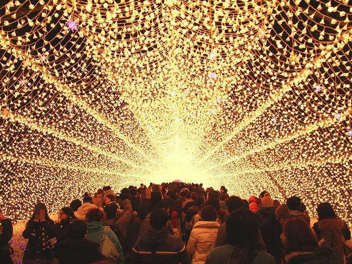 光のトンネル(回廊) なばなの里にて