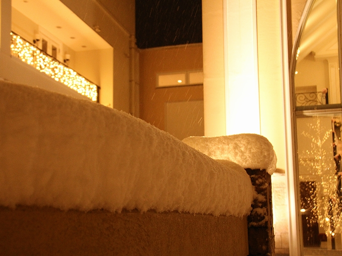 雪の積もった夜 ララシャンス太陽の丘