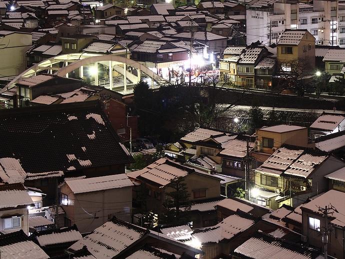 金沢浅野川 天神橋の夜景