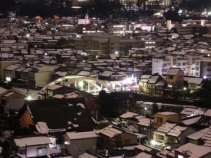 金沢の夜景 卯辰山より