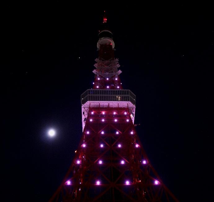 東京タワー 満月ダイヤモンドヴェール