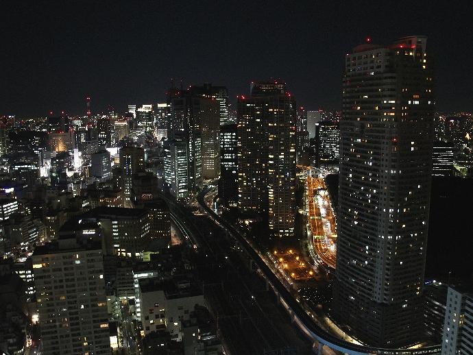 汐留の夜景 世界貿易センタービル最上階より