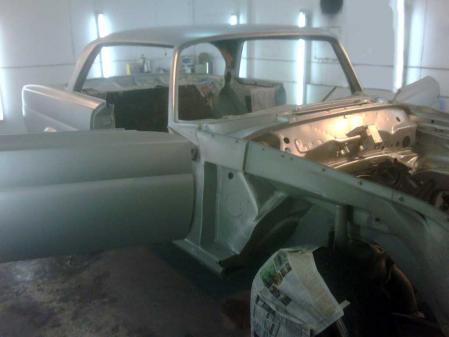 w111 280se 3.5 オールドメルセデス レストア 全塗装