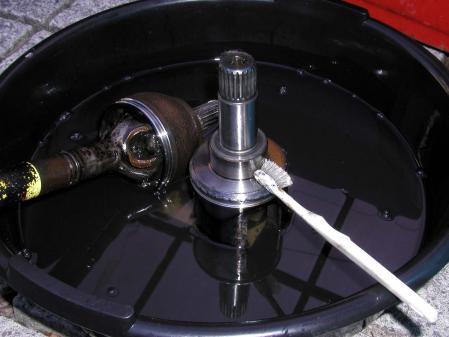プジョー106 シトロエン ドライブシャフト洗浄