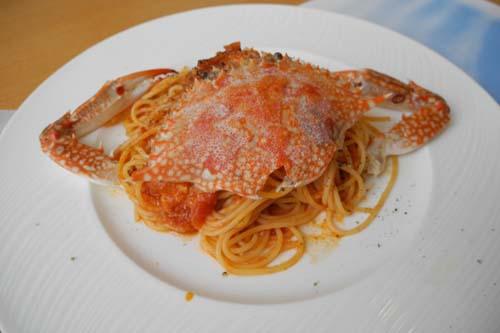 渡り蟹のスパゲティー