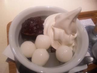 ソフトクリームあんみつ ¥600