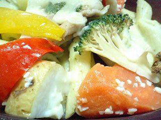 焼 チキンと野菜のバジルペンネグラタン  b