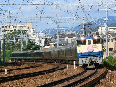 EF65-1135牽引 トワイライトエクスプレス 撮影地:さくら夙川~芦屋