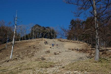 小雲取山への最後の登り
