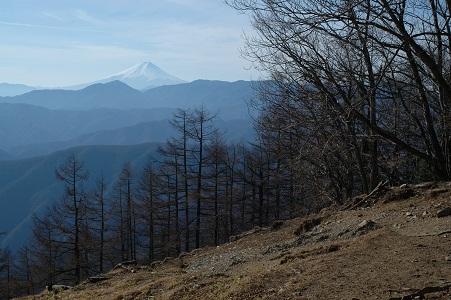 小雲取から富士
