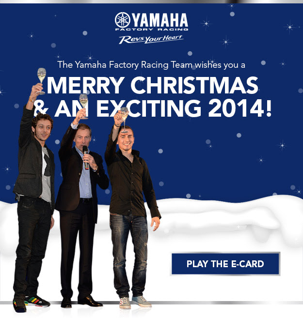 Seasons Greetings from the Yamaha Factory Racing Team