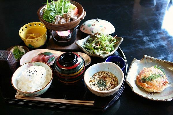 白菜と豚肉の水炊き鍋御膳