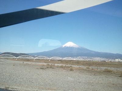 20131129快晴の富士山と富士川