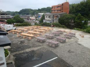 去年より増設したテーブル