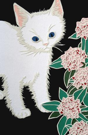 白猫と沈丁花