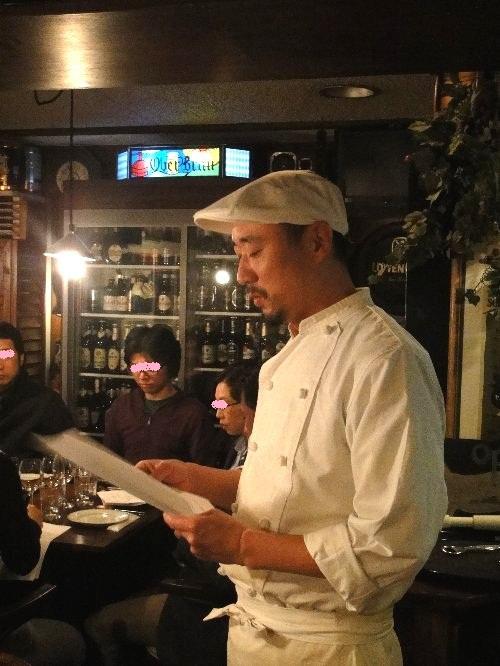 丸山さん、料理説明