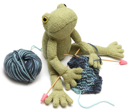 かえるの編み物