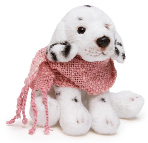 ピンクマフラー犬