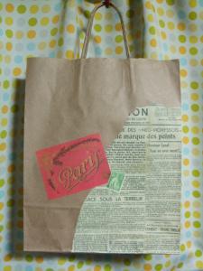 紙袋のラッピング