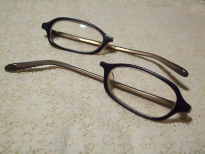 真っ二つの眼鏡さん