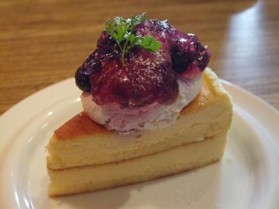 鳥取県産ブルーベリーのスフレチーズケーキ