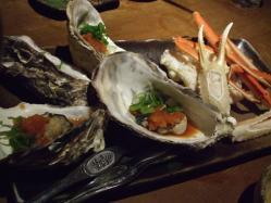 タラバ蟹と旬の焼物盛合せ