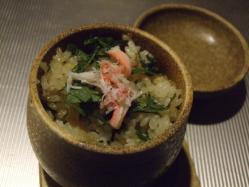 カニと十穀米の炊き込みご飯