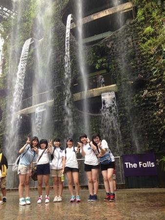 シンガポール(フラワーガーデン・滝)