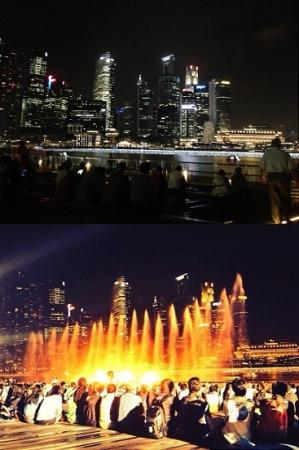 シンガポール(レーザーショー)