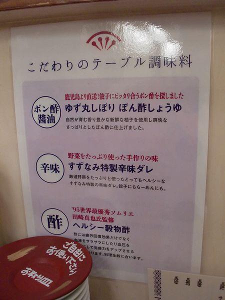 すずなみ@錦糸町・調味料説明