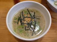 灯花@四谷三丁目・塩つけ麺・スープ割