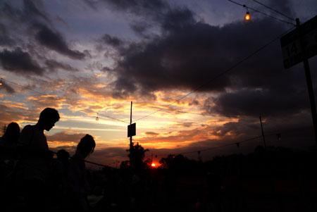 2012板橋花火前の夕焼け