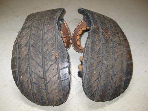 タイヤサンダルの裏面