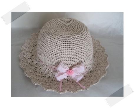 ベビーピンクの帽子